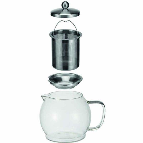 Glazen Theepot met filter - 1.2 liter
