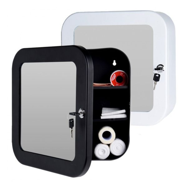 Medicijnkastje met spiegel - wit