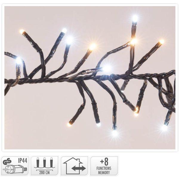 Clusterverlichting - 384 LED - 2-kleuren: wit + warm wit