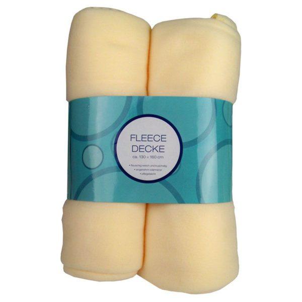 2 Pack Fleece Dekens creme