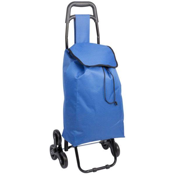 Boodschappentrolley - Handige Trappenloper - blauw
