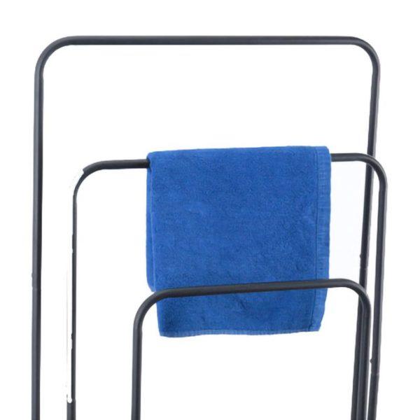 Handdoekenrek metaal - zwart