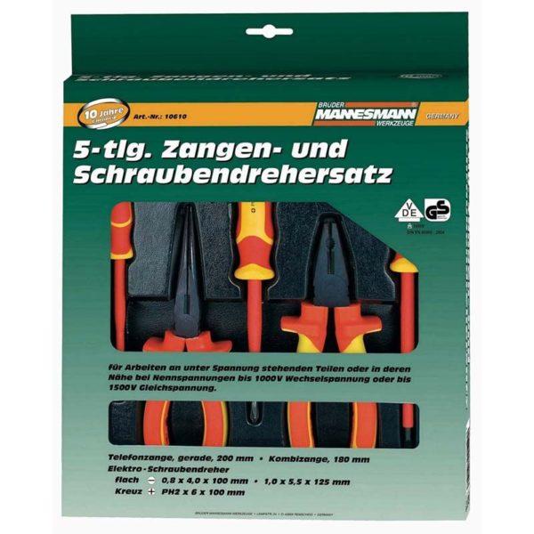 Brüder Mannesmann  VDE Elektro-gereedschapset  (5 dlg)
