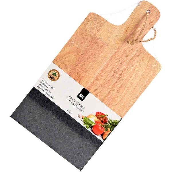 Snijplank natuursteen-hout 37x19cm