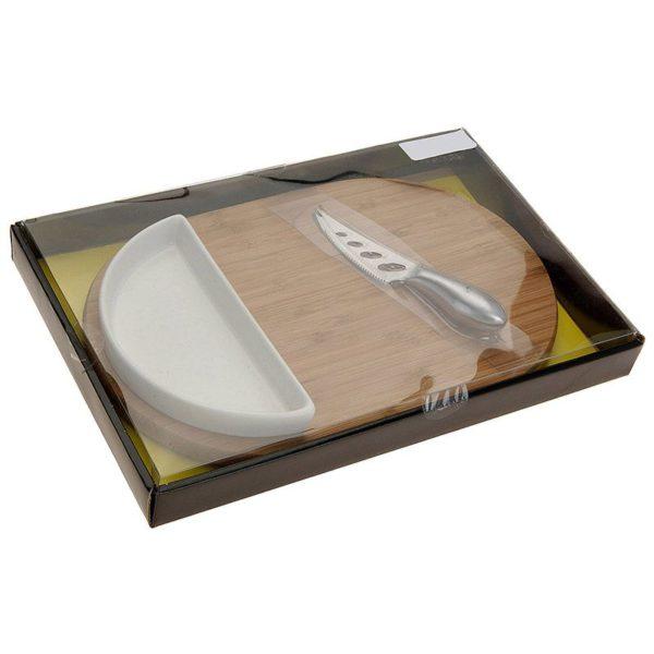 Excellent Houseware Kaasplank (30x19.5) met bakje en mes