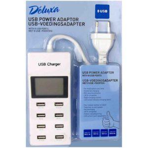USB-voedingsadapter met 8 USB-poorten