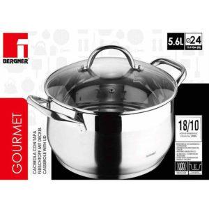 Bergner  RVS 18/10 kookpan 24cm - 5,6 liter