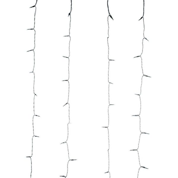 Gordijnverlichting - 320LED - 100x200cm - warm wit