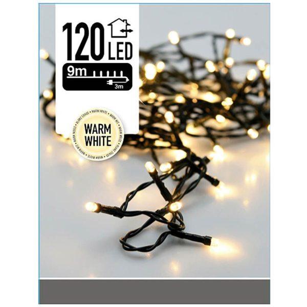 Kerstverlichting 120 LED's 9 meter warm wit