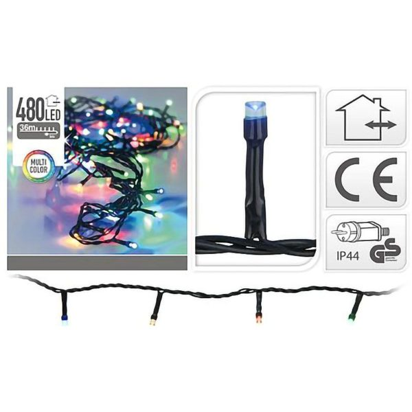 LED-verlichting 480 LED's 36 meter multicolor