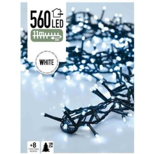 Micro Cluster 560 LED's 11 meter wit