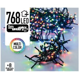 Clusterverlichting 768 LED 5.5m multicolor