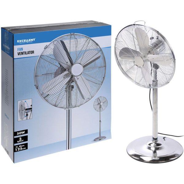 Ventilator chroom met 3 snelheden