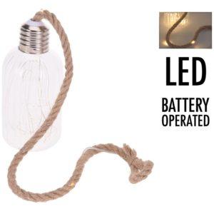 Glazen lamp met 20 LED