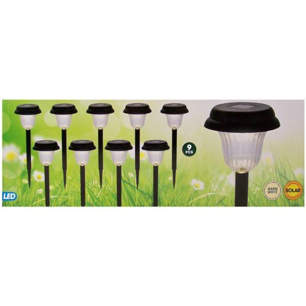 Solar LED Tuinverlichting - Set van 9