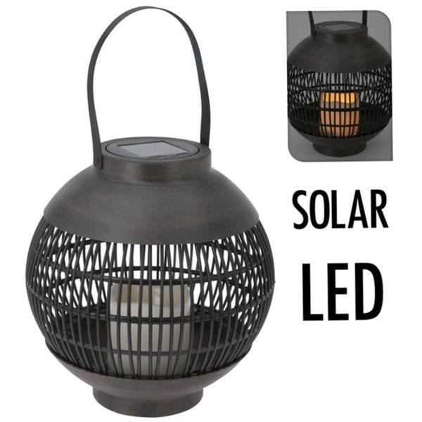 Solar lantaarn LED 23 cm - basket