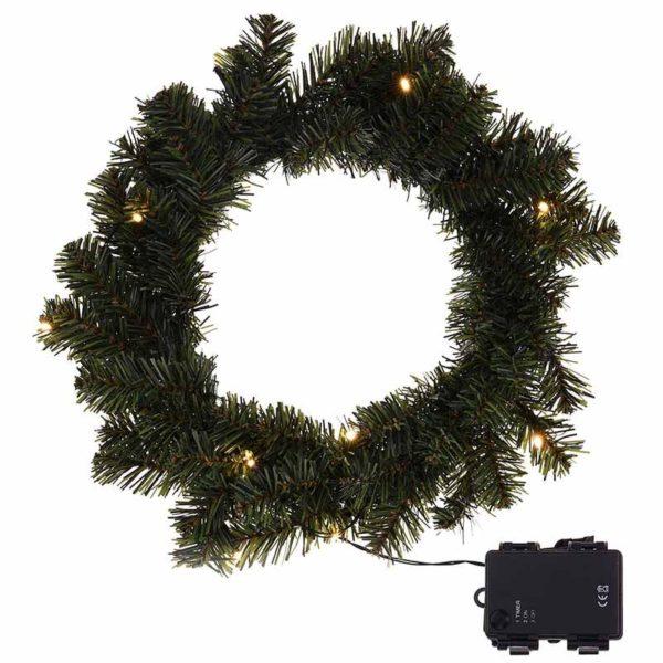 Kerstkrans 35cm met verlichting en timerfunctie