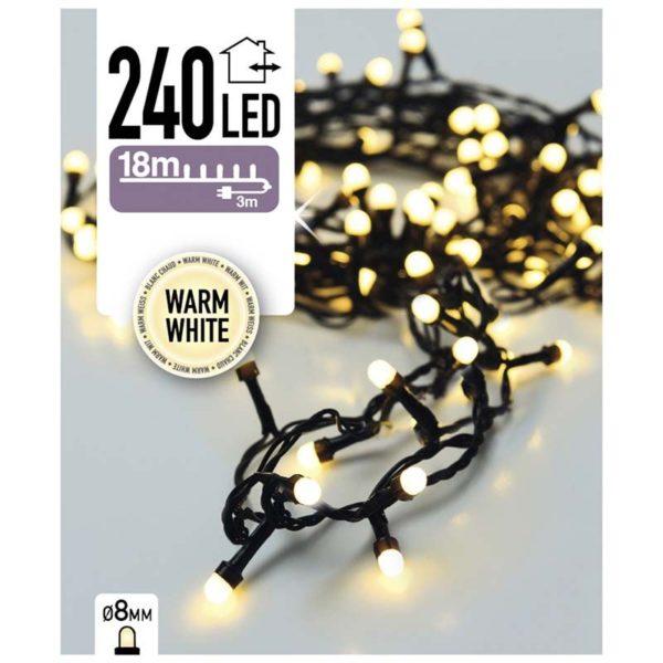 LED-verlichting bolletjes 240 LED's 18 meter warm wit