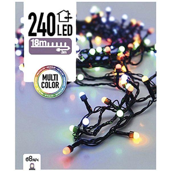 LED-verlichting bolletjes 240 LED's 18 meter multicolor