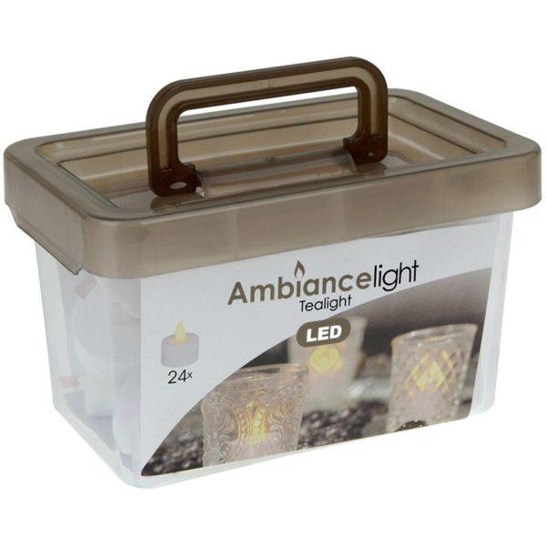 Box met 24 LED-Theelichtjes LED