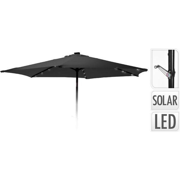 Parasol met verlichting - 270cm - antraciet