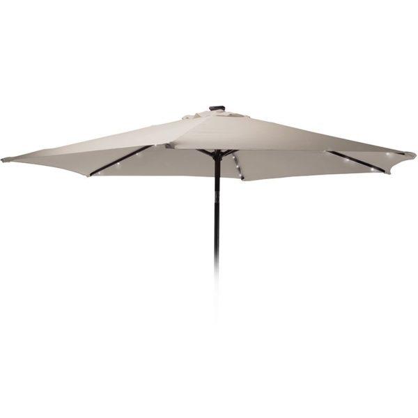 Parasol met verlichting - 270cm - taupe