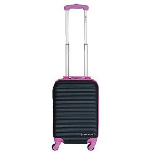 Leonardo Handbagage koffer duo-tone zilver / groen