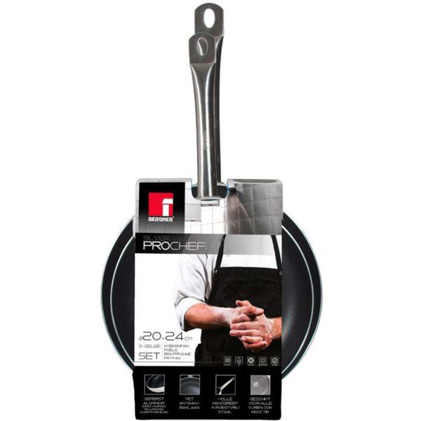 Bergner ProChef Platinum koekenpannenset - 2-delig