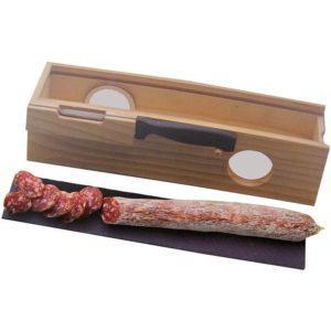 Borrelkistje met snijplank en mes
