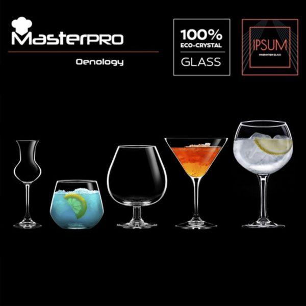 Masterpro Waterglazen 380ml - Kristalglas - 2 stuks