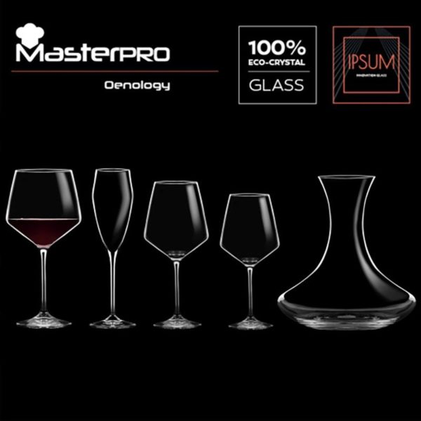 Masterpro Rode Wijnglazen 720ml - Kristalglas - 2 stuks
