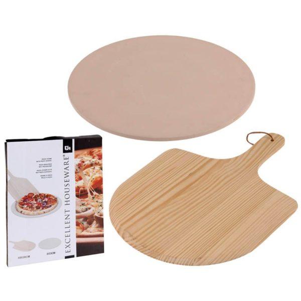 Pizza-baksteen met pizza-schep