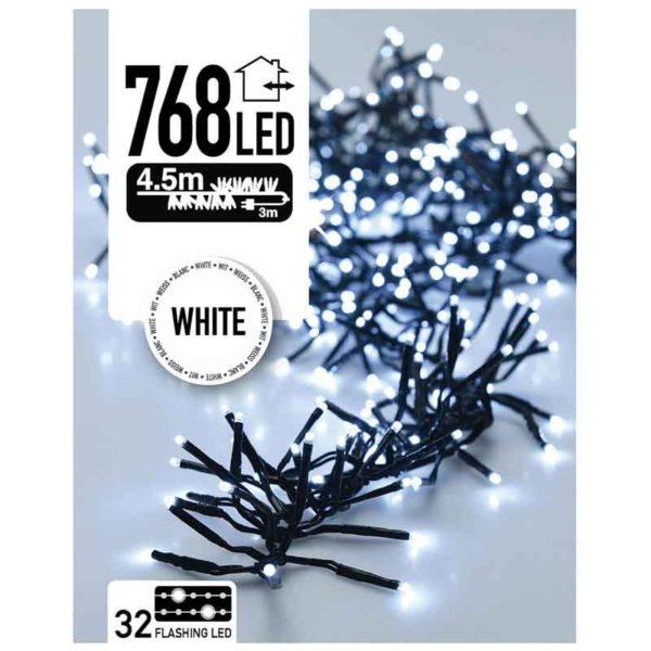 Clusterverlichting Flash 768 LED - 4.5 meter - wit