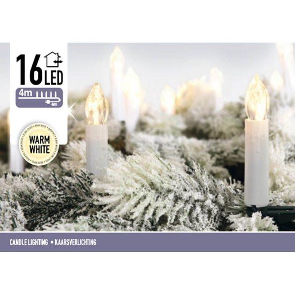 Kaarsverlichting 16 LED - warm wit