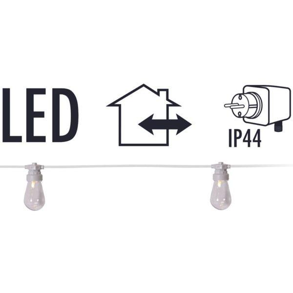 Feestverlichting - 20 lamps - helder - warm-wit
