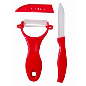 Excellent Houseware Keramische schilmessen (rood)