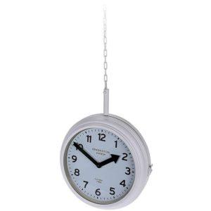 Stationsklok hangend - 30cm - wit