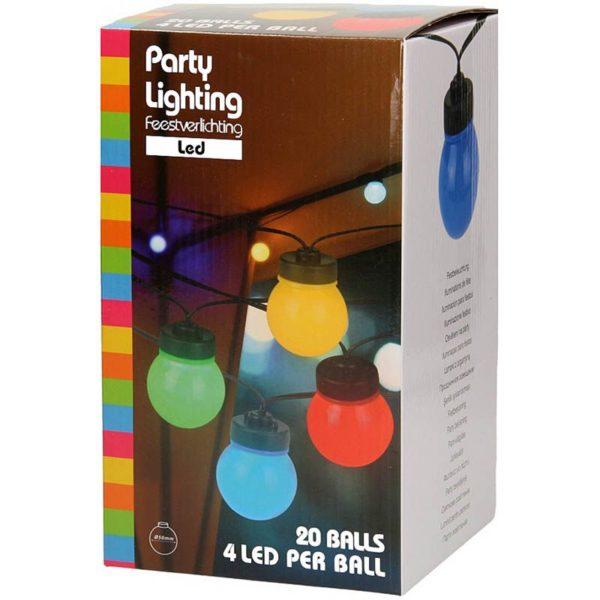 Tuinverlichting 20 gekleurde LED-lampen