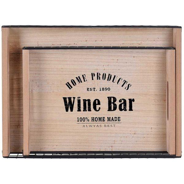 """Dienbladen """"Wine Bar"""" - 2 stuks"""