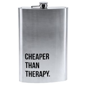 """Mega Heupfles 1.8 liter - """"Cheaper than therapy"""""""