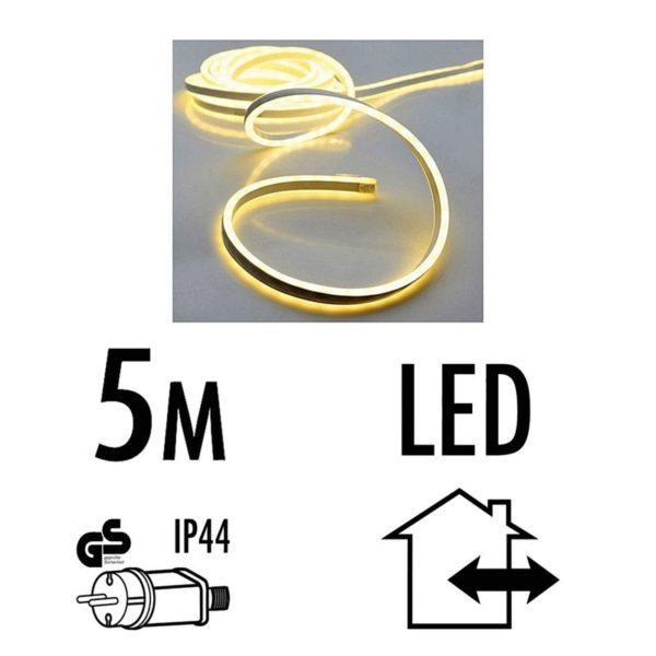 Lichtslang 5 meter - 600 SMD-LED - warm wit