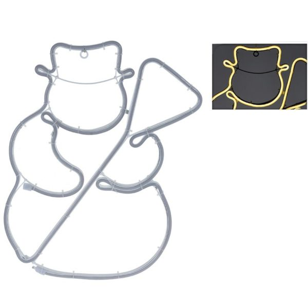 Slangverlichting sneeuwpop - 360 SMD-LED - 49cm