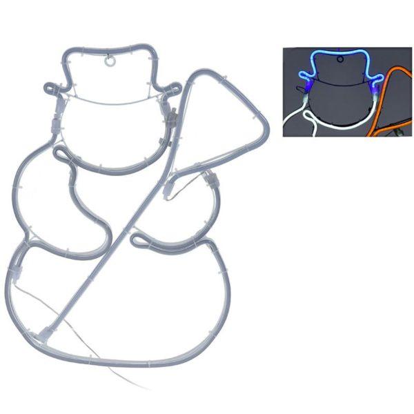 Slangverlichting sneeuwman - 360 SMD-LED - 49cm - kleur