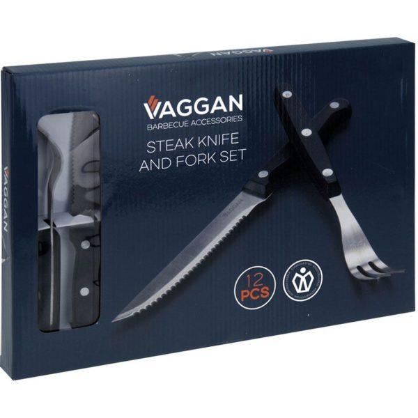 Steakmessen en vorken - set 12-delig