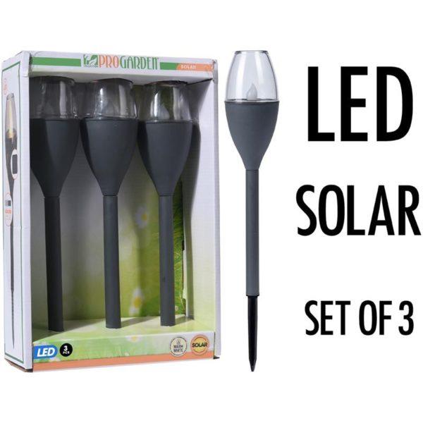 Solar LED Tuinverlichting - Set van 3