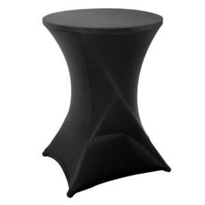 Statafelrok - stretch zwart - Ø80 x 110cm