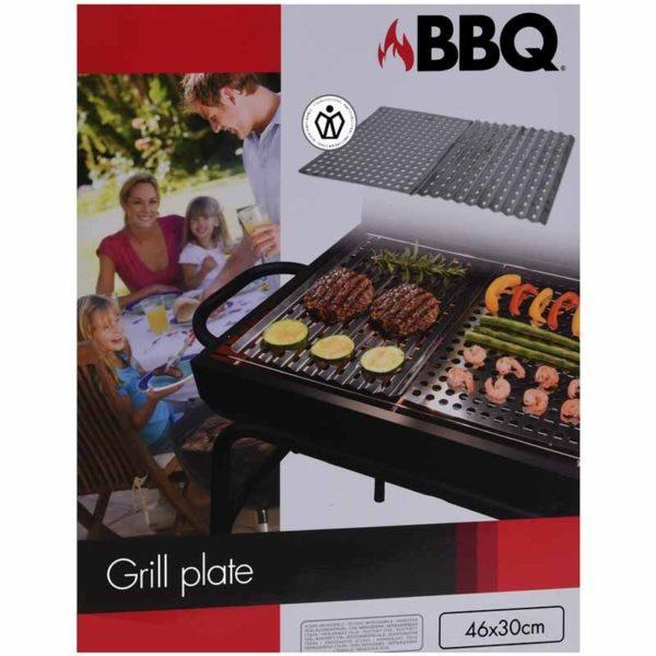 Barbecue RVS grillplaten - 2 stuks