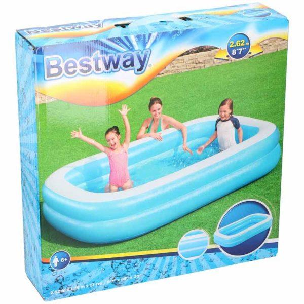 Bestway Familiebad 2-rings - 262x175x51cm
