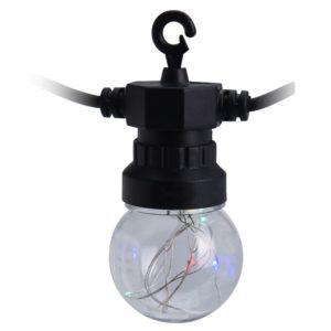 Feestverlichting 10 multicolor-lamps - 50 LED's - 5cm