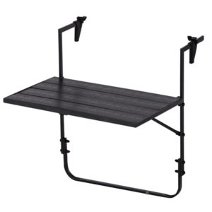 Balkontafel - Polywood - 59 x 40 cm - antraciet